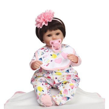 NPK 16inch Reborn Baby Doll Realistic Lifelike Girl Doll Play House Toy
