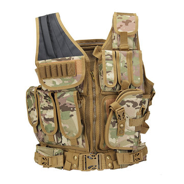 KALOAD 19 Coumouflage Military Tactical Vest Molle Combat CS Assault Protective Vest