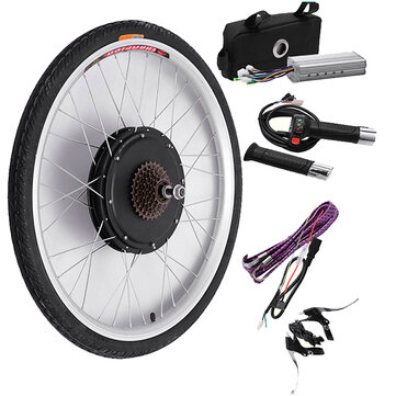 Bikight 48V 500W 26Inch Electric Bicycle Modification Kits Driving Motor Rear Wheel...