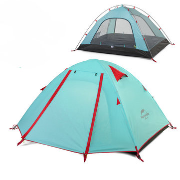 Naturehike NH15Z003-P Outdoor 2-4 Persons Camping Tent Waterproof Polyester Double Layer Sunshade