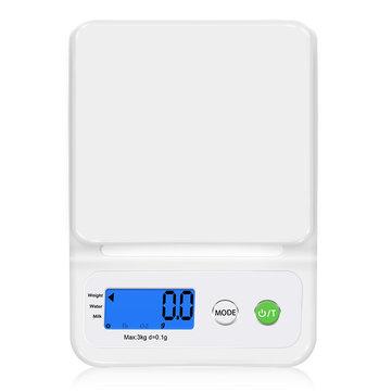 GASONC3LCDДисплейКухняШкала Главная Точный цифровой электронный вес Пластик Измерение Набор Приготовление пищи Зерно 3000 г / 0,1