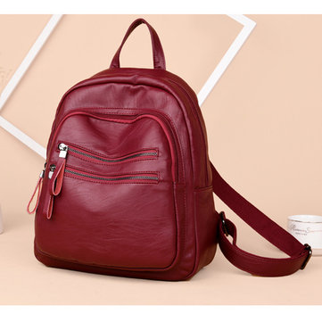 Waterproof PU Backpack Travel Bag Leisure Shoulder Bag