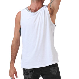 Fashion Men's Irregular Front Rear Zipper Tank Tops