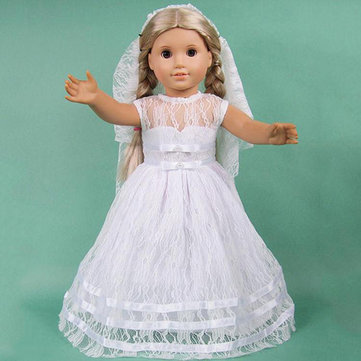 Handmade Wedding Dress For 18inch American Girl
