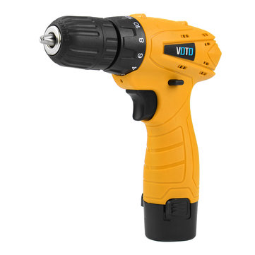 VOTO 12 Volt Lithium-ion Battery Cordless Screwdriver Kit Power Tools 10mm Chuck Drill Screwdriver