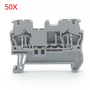 Excellway® ST-2.5 Spring Terminals Self-locking Type Connecctors Row of Flame Retardant 50Pcs