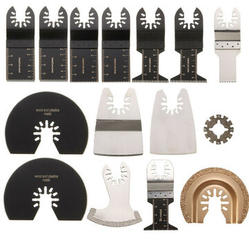15pcs Saw Blades Kit for Rockwell Sonicrafter Worx Oscillating Multitool Accessory