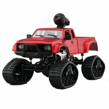 Fayee FY002B 1/16 2.4G 4WD Rc Car 720P HD WIFI FPV Off-road Military Truck Track Wheel W/ LED Light