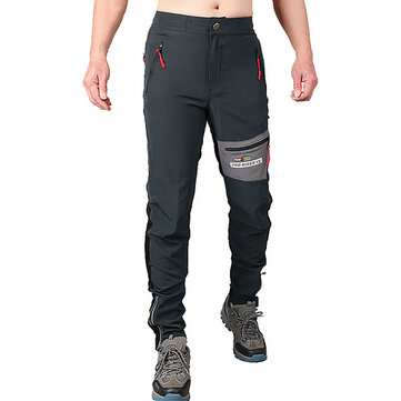 Mens Outdooors High Elastic Quick Drying SporT-pants Waterproof Breathable Slim Fit Climbing Trousers