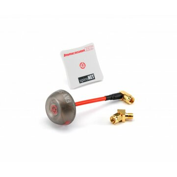 ImmersionRC SpiroNET V2 5.8GHz RHCP Diversity Bundle Omni 8dBi Patch FPV Antenna with 45 Degree SMA