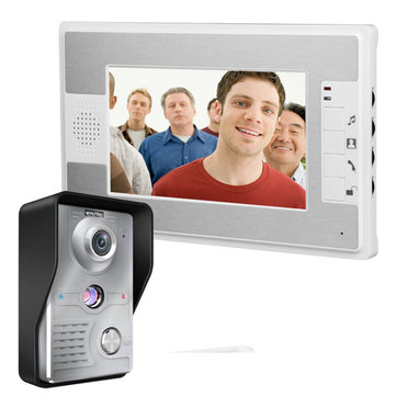 ENNIO SY813MKW11 7 Inch Video Door Phone Doorbell Intercom Kit with Night Vision Camera and Monitor