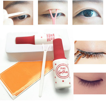 Double-fold Eyelid False Eyelash Glue Curling Permer Rods Curler Aid Eyelash Wave Lotion Glue 10ml