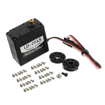 LD-2015 180 Degree 15KG Large Torque Metal Gear Biaxial Digital Servo For Robot