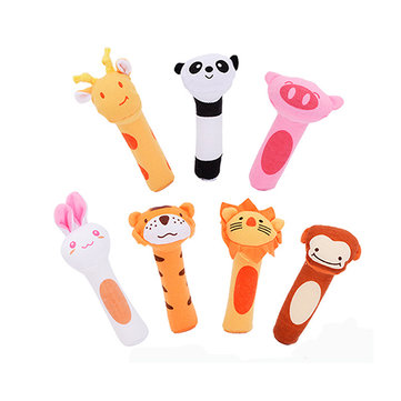 Vvcare BC-Q3 2017 New Baby Rattle Infant Animals Beeps Music Soft Plush Toys Holding Rattles