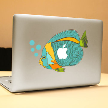 PAG Little Fish Decorative Laptop Decal Removable Bubble Free Self-adhesive Skin Sticker