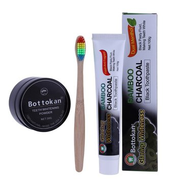 Natural Bamboo Charcoal Toothbrush Kit