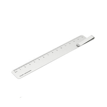 RUMA Metal Bookmark Straight Ruler Silver Clip Ruler from Xiaomi Youpin