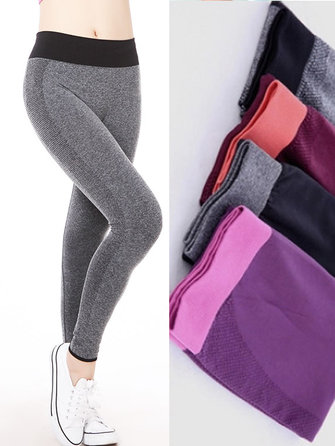 Elastic Running Trousers Yoga Ninth Fitness Pants Leggings