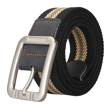 Men's Business Alloy Buckle Woven Stretch Belt