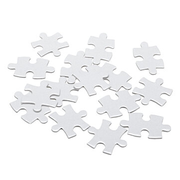 A4 120 Pcs DIY Blank Puzzle Thermal Transfer Paper Jigsaw Toy For Heat Press Machine Unique Gift