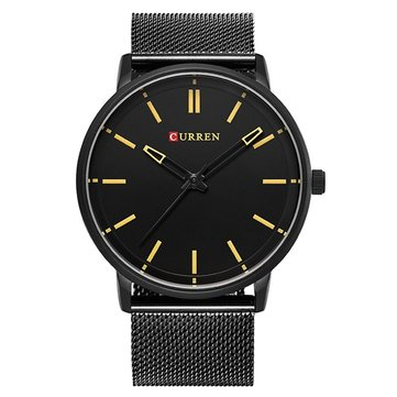 CURREN 8233 Fashion Alloy Band Casual Style Men Wrist Watch