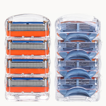 GFLV® 8pcs 5 Layers Blades Shaving Razor Shaver Heads Replacement for Gillette