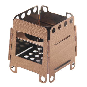 BBQ Cooking Stove Outdoor Stainless Steel Grill Mini Portable Wood Camping Wood-burning Stove Pocket Backpacking Survival Stove