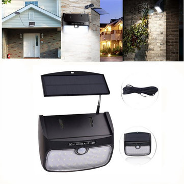 38 LED Detachable Solar Powered Motion Sensor Waterproof Wall Light Outdoor Garden Security Lamp