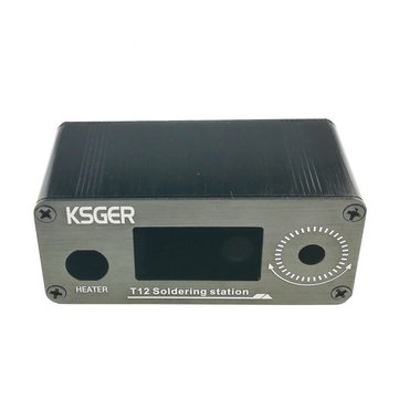 KSGER New Type V2.0 V2.1S T12 Soldering Station Metal Case Cover for Digital STM32 OLED STC OLED 1.3 Size