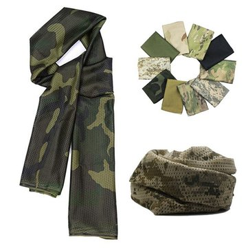 Multi Purpose Camouflage Mesh Scarf Tactical Military Wraps Veil Unisex Scarf