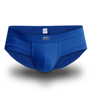 Men Modal Breathable U Convex Pure Color Underwear Soft Sexy Brief