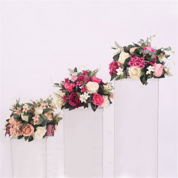 38cm Silk Rose Peony Artificial Flower T Station Stand Backdrop Wedding Decor Supplies