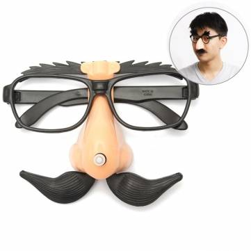 Funny Plastic Nose Mustache Clown Glasses Hallowmas Party Supply