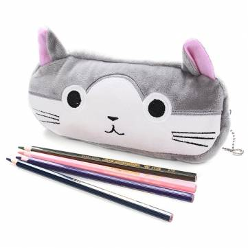 Buy Cute Cartoon Soft Plush Pencil Pen Case Pouch Cosmetic Makeup Zipper Storage Bag for $2.89 in Banggood store
