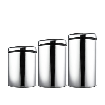 Stainless Steel Touchless Trash Can Recycle Motion Sensor Automatic Waste Bins USB Charge 3/4/6L
