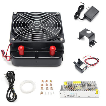 144W DC 12V Semiconductor Refrigeration Thermoelectric Peltier Dual Chip Cooling System