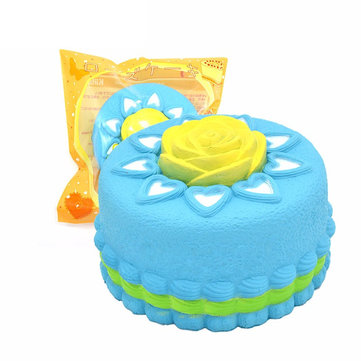 Kiibru Squishy Jumbo Rose Cake Slow Rising Original Packaging Collection Gift Decor Toy
