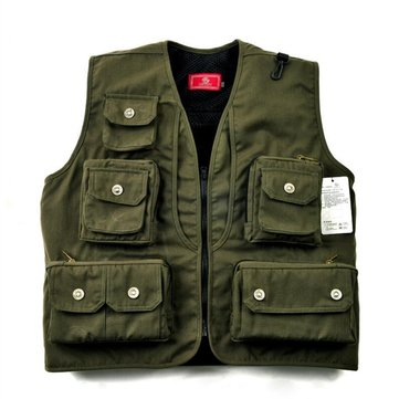 LEO L-XXXL Safety Life Jacket Vest Multi Functional Outdoor Fishing Photography Gear Clothing