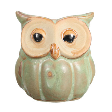 Mini Ceramic Owl Succulent Plants Flower Pot Planters Balcony Home Office Decorations