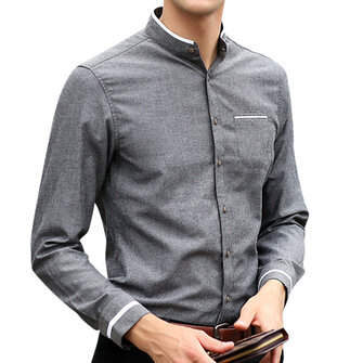 Men Stand Colla Shirts