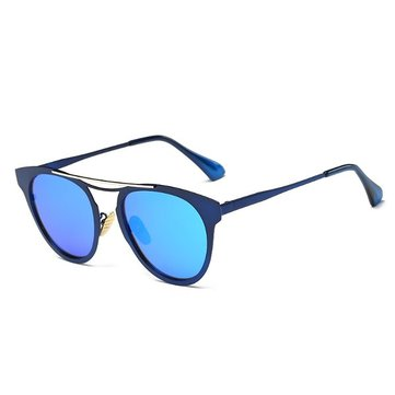 Women Irregular Polarized Glasses Fashion Cat Eye Metal Frame Outdooors Sun Glassess Multi-Color