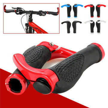 2PCS TPR Rubber Road MTB Mountain Bicycle Bike Cycling Lock On Handlebar Hand Bar End Grips