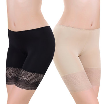 Cosy Breathable Stretchy Lace Hip Lifting Boyshorts Underwear