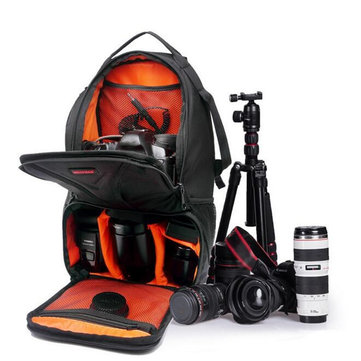 Multi-functional Waterproof Large Capacity Triangular DSLR Camera Bag Case Backpack