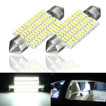 2pcs 3w 41мм интерьер автомобиля LED festonn readding крыша свет колбы лампы белый