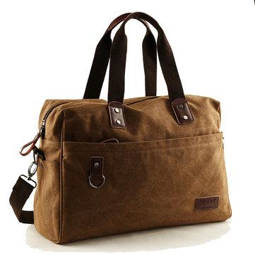 14inchLaptopBagMannenCanvas Outdoor Travel Schoudertas Crossbody Bag Grote Capaciteit Handtas