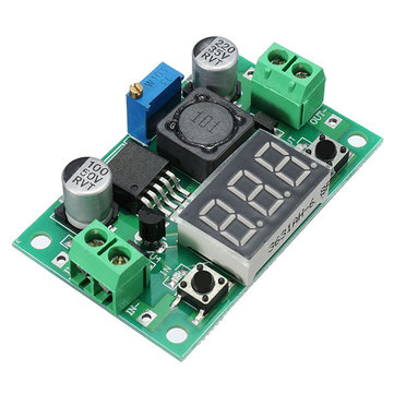 3pcs LM2596 DC-DC 1.3V - 37V 3A Adjustable Buck Step Down Power Module 150KHz Internal Oscillation Frequency With Digital Display Over-Heat And Short Circuit Protection Function