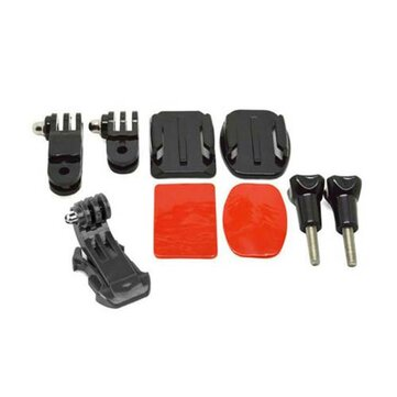 Helmet Accessories Set J Hook Buckle Mount Basic Adapter Screw with 3M Sticker for Gopro Hero 5 4 3 3Plus 2 1 Action Camera