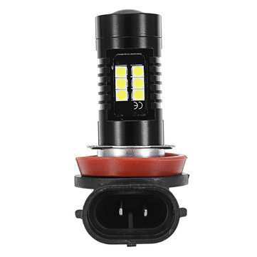 1pcs H11 21SMD LED Car Fog Lights Driving Lamp Bulb with Projector Lens 21W Xenon White
