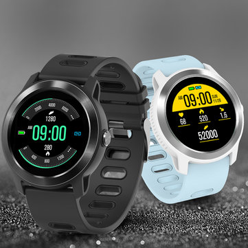 SENBONO S08 Plus Single Touch 1.3 Inch Color Screen Wristband IP68 Music Control HR Monitor Smart Watch
